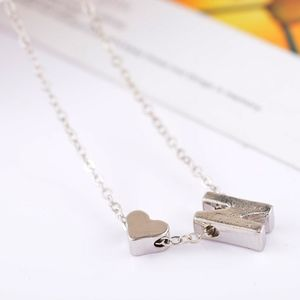 Jewelry - Dainty Silver N Initial Heart Necklace